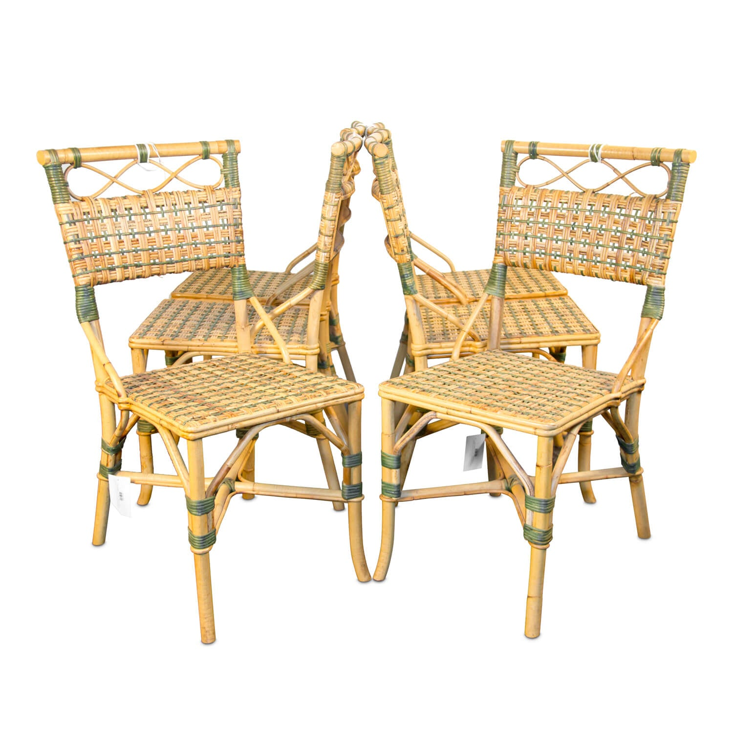 Charming Woven Rattan French Bistro Chair - Set of 6