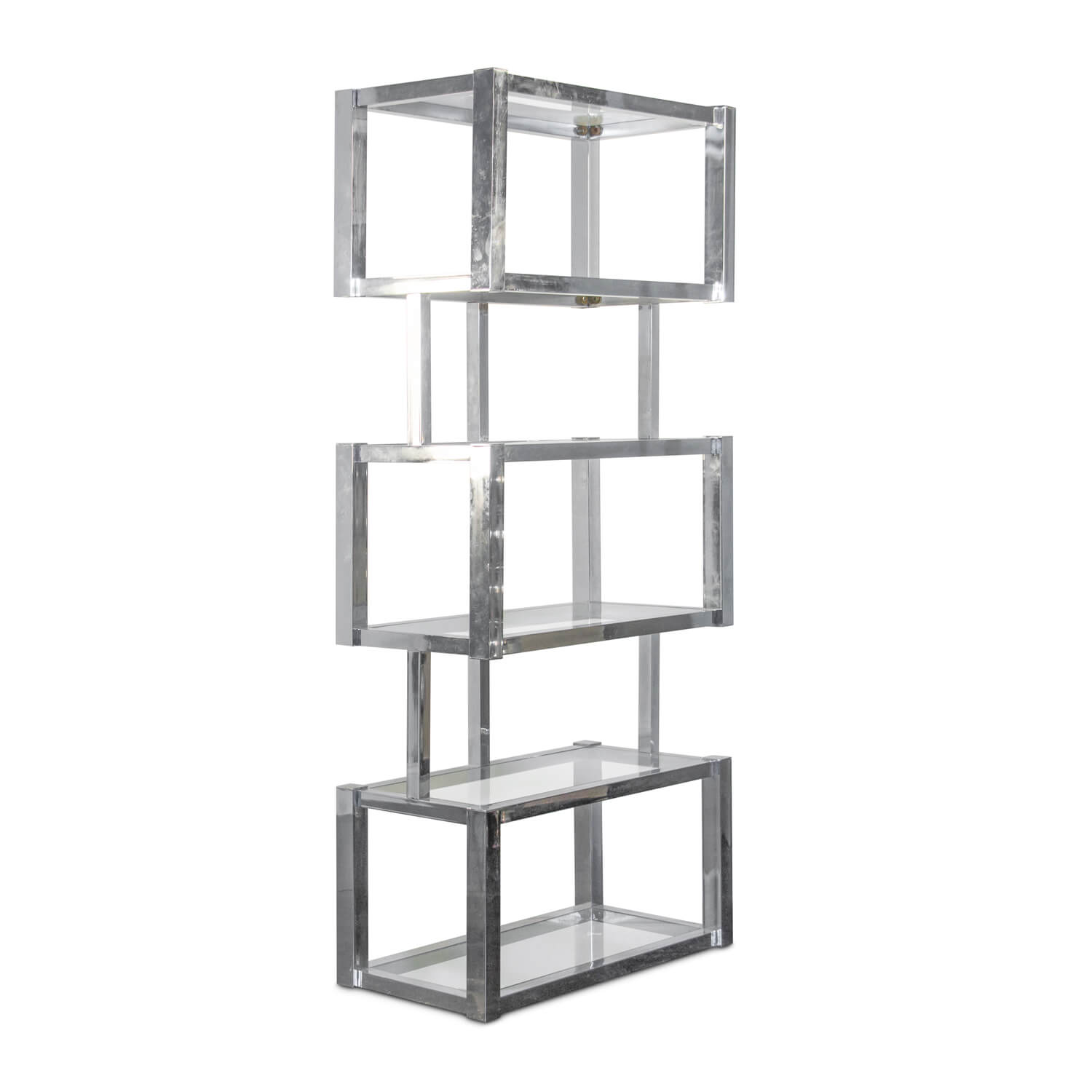 Chrome & Glass Bookshelf