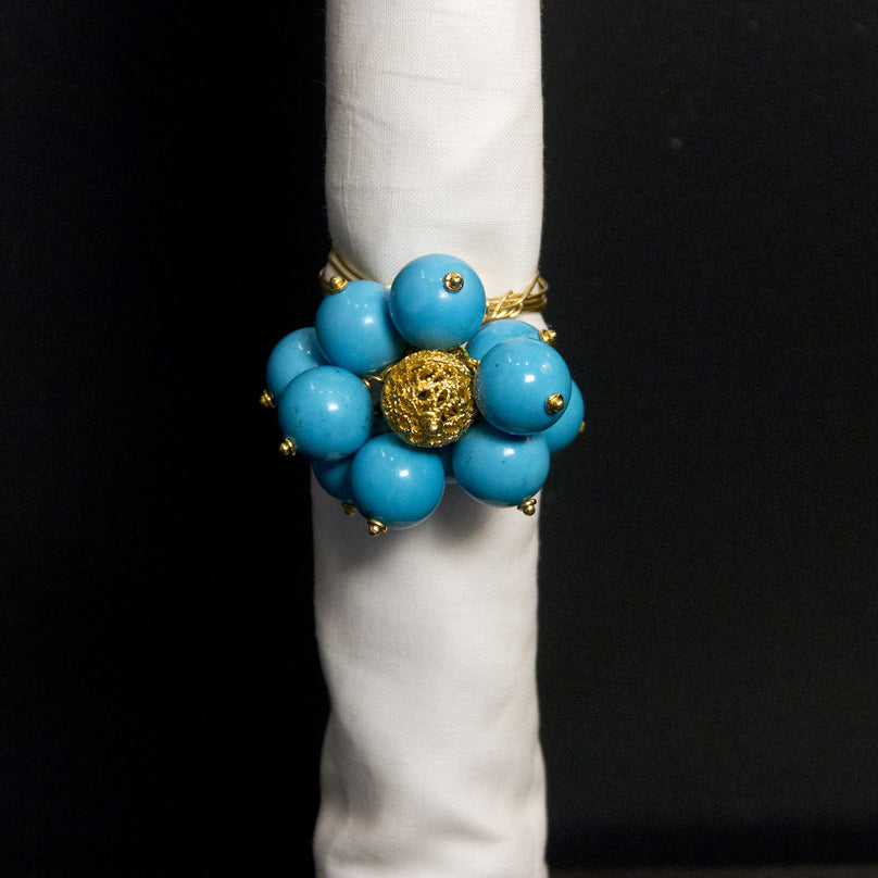 Sleeping Beauty - Turquoise Bobble Napkin Ring