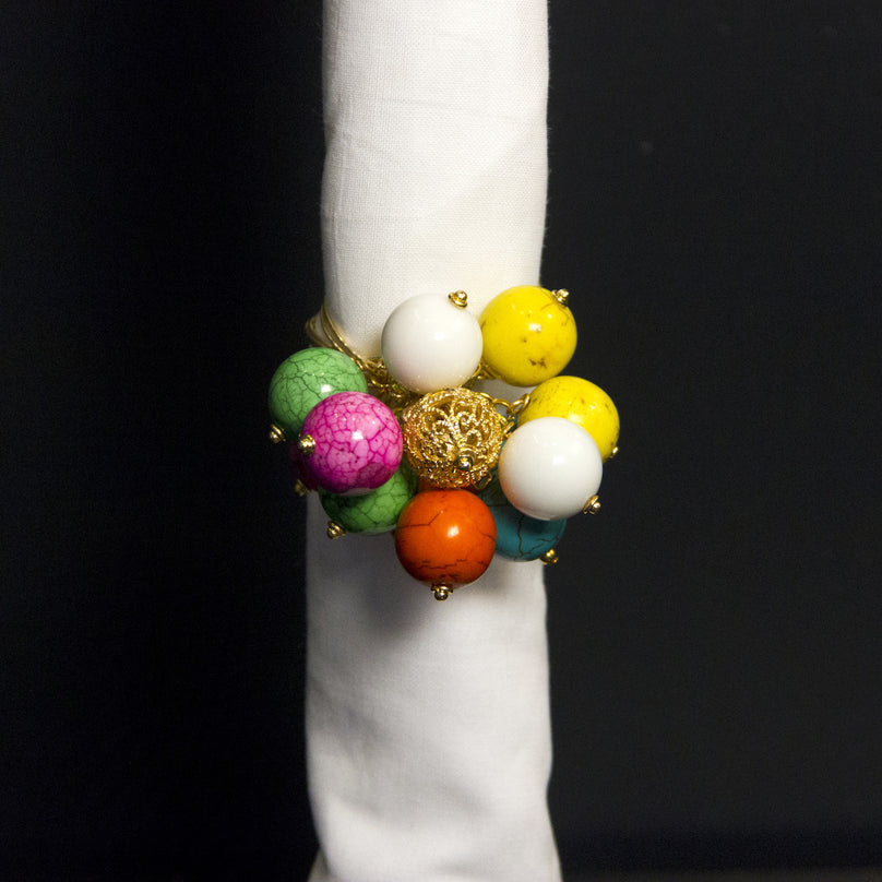 Multicolored Gumball Bobble Napkin Ring