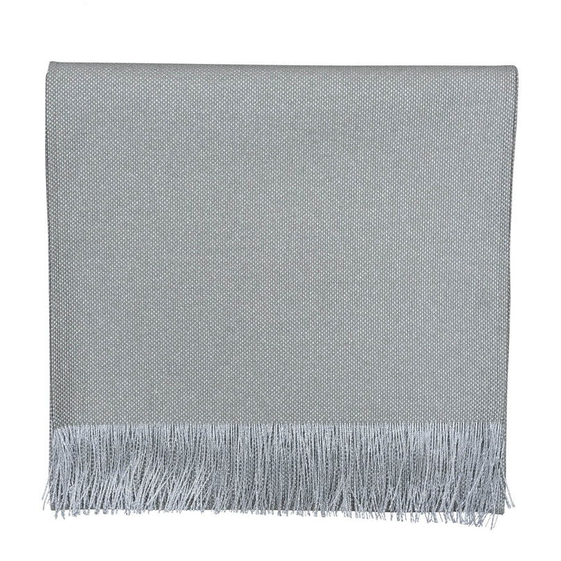 Sterling Frayed Runner - Pewter