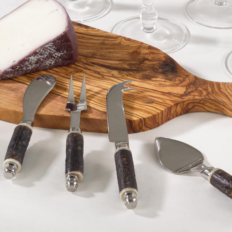 Bark Cheese Cutlery - Set of 4