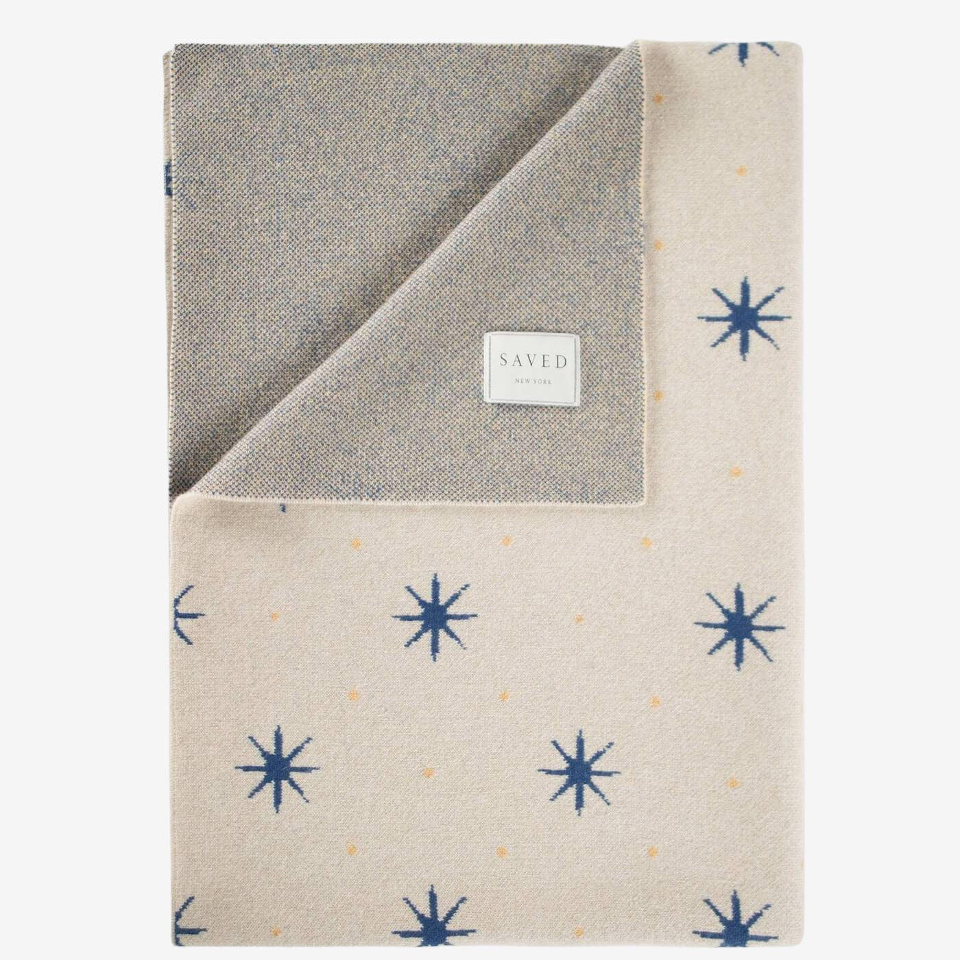 Stars Blue Throw