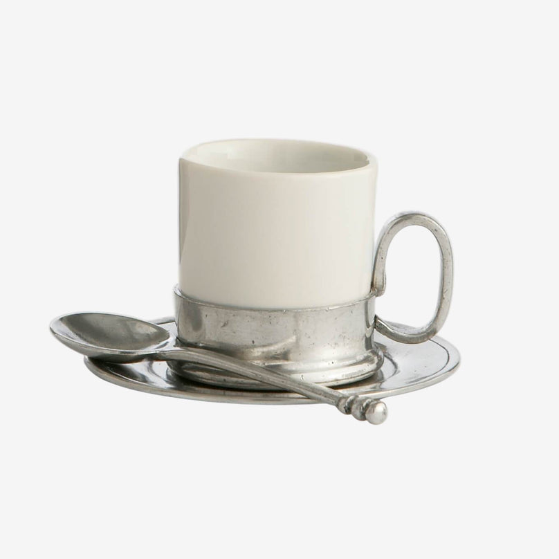 Tuscan Espresso Cup & Saucer with Spoon