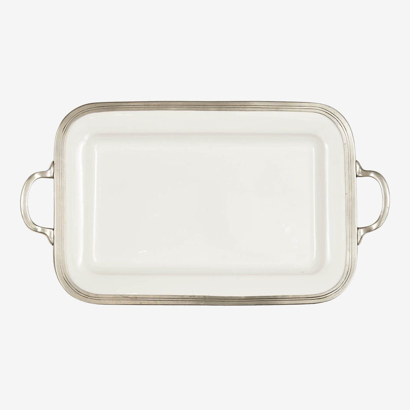 Tuscan Rectangle Tray with Handles