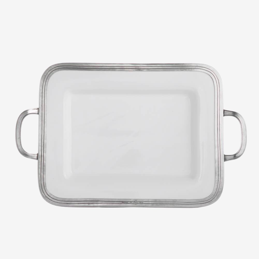 Tuscan Small Rectangular Tray with Handles