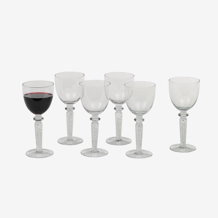 Twist Stemmed Wine Goblets - Set of 6