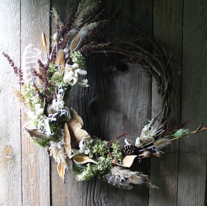 Grapevine Wreath - Olive Pheasant