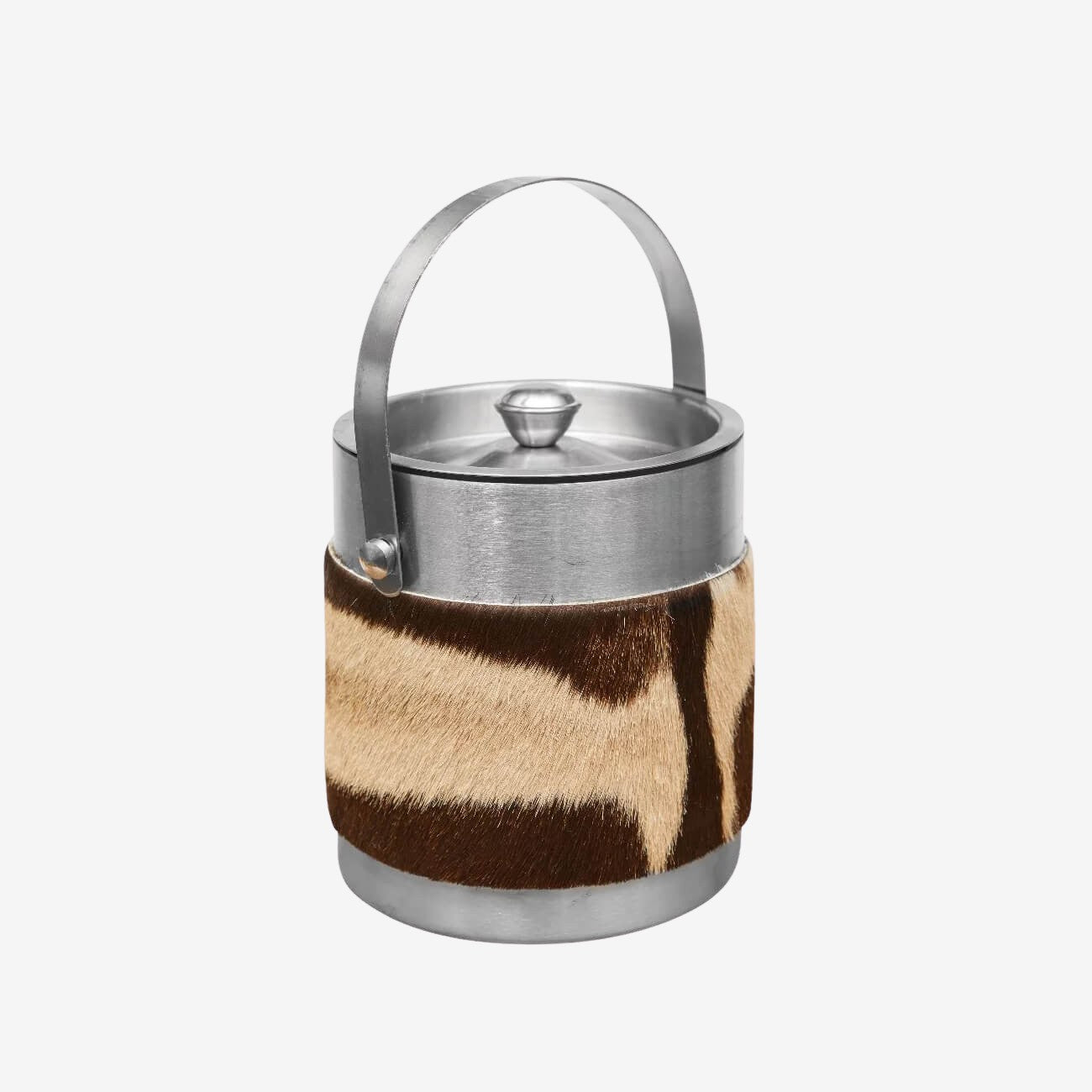 Zebra Hide Ice Bucket