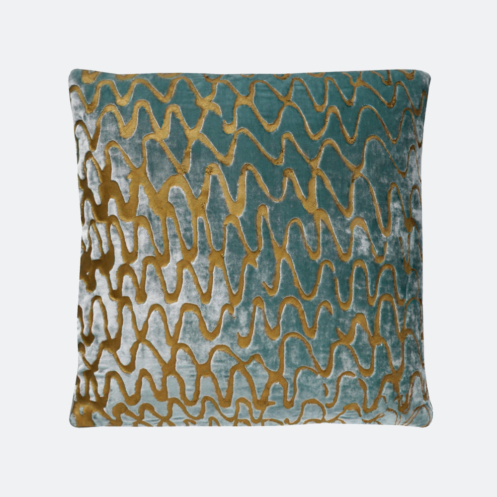 24 ripple effect hand painted pillow