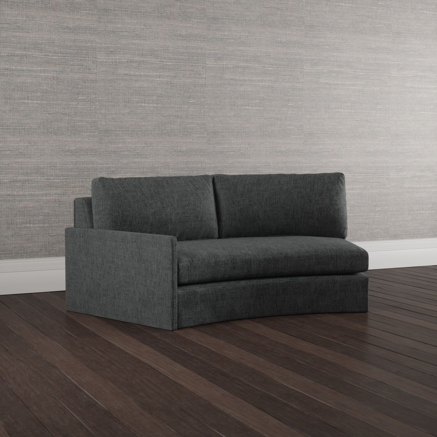 Aggedor One Arm Loveseat