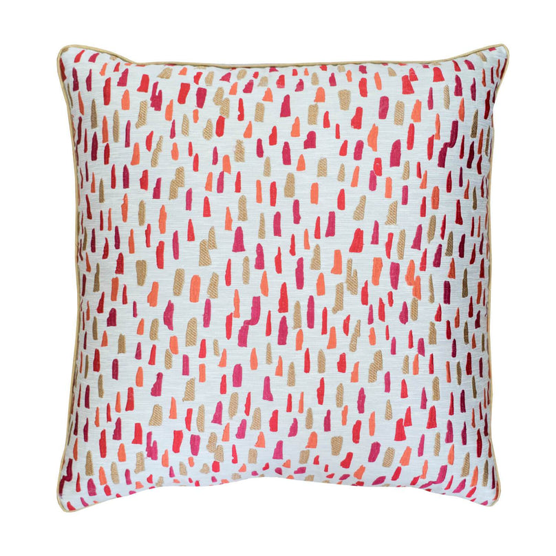 "22"" Alixia Pillow - Red/Coral"