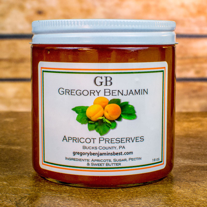Gregory Benjamin Preserves - Apricot Peach 9 ox.