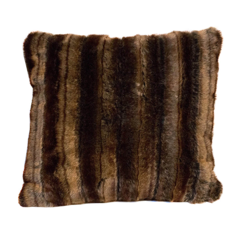 Arctic Stripe Faux Fur Decorative Pillow