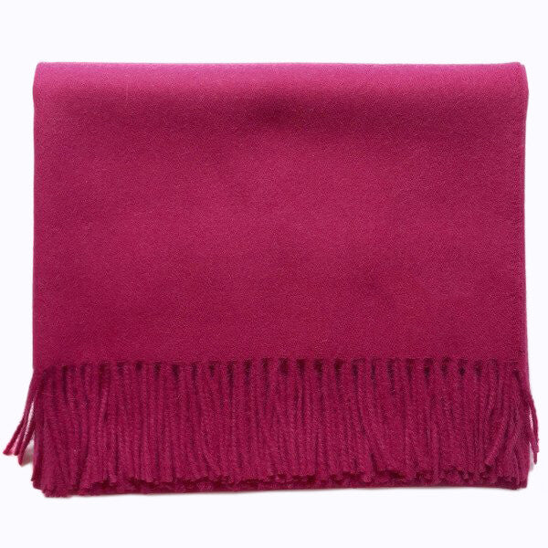 Baby Alpaca Throw, Cerise