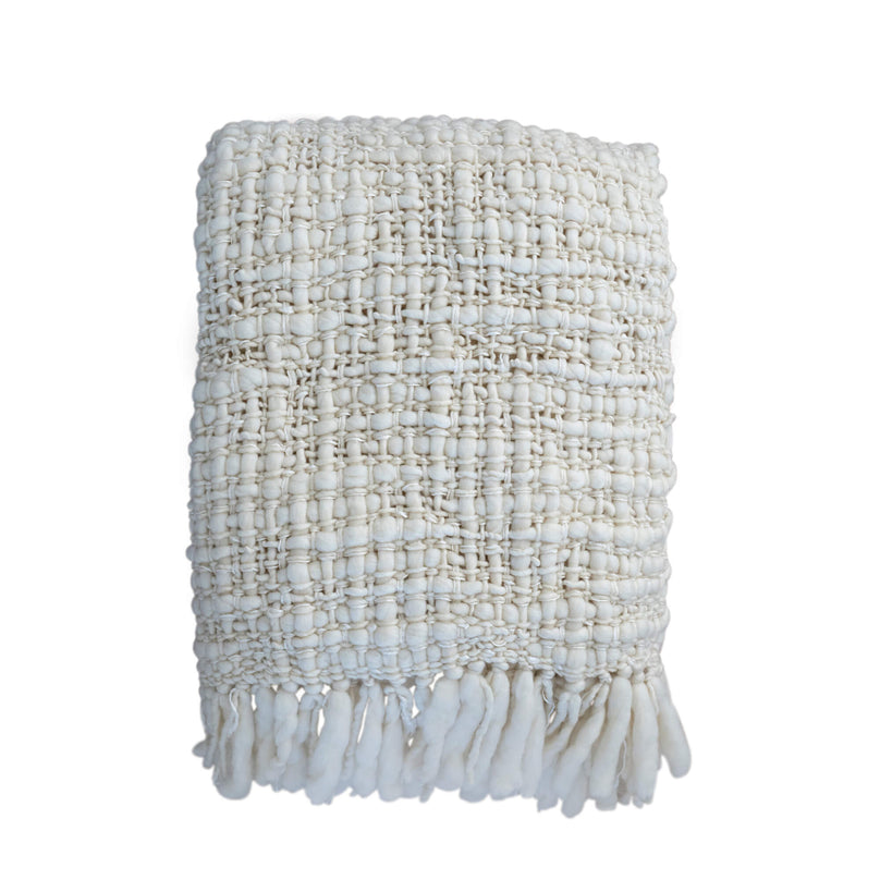 Cambon Blanket, Ivory