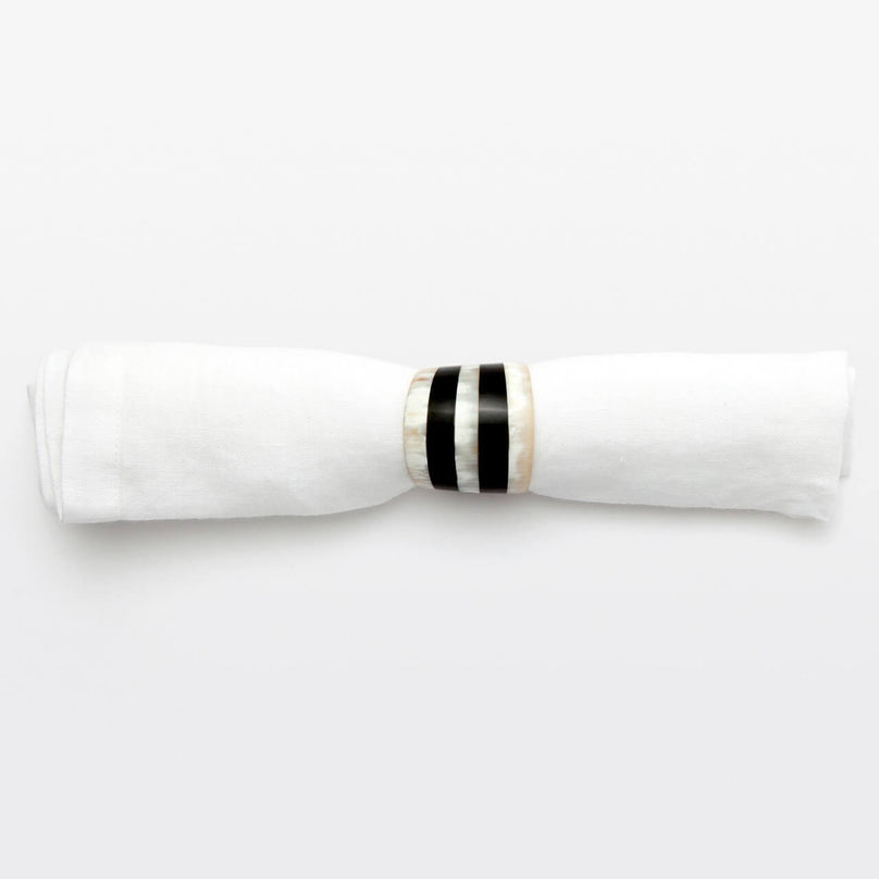 Cameron Mixed Horn Napkin Ring, Set/4