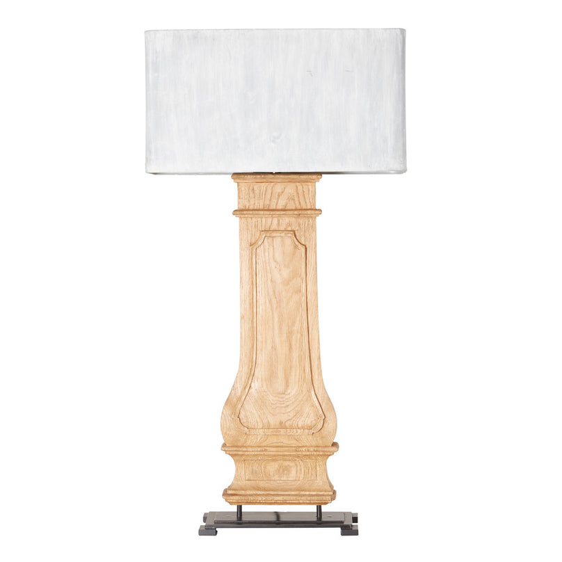 Column Table Lamp w/ Zinc Shade