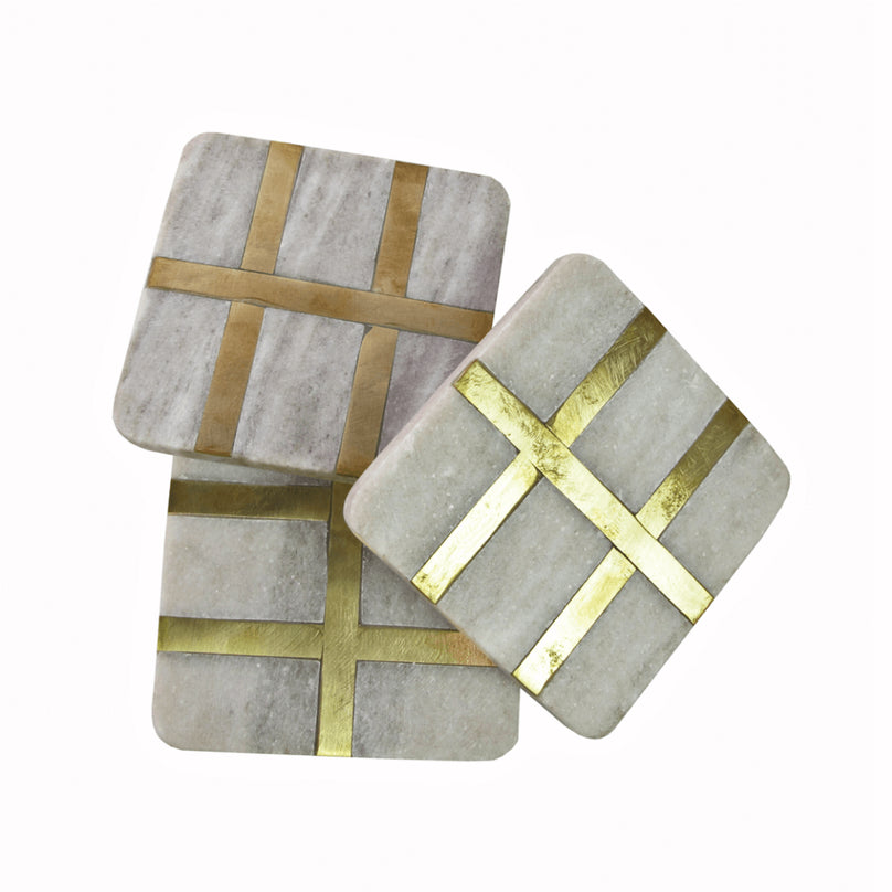Criss Cross Coasters - Set of 4