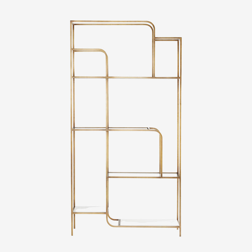 Etagere Mauro, Brass - Tall