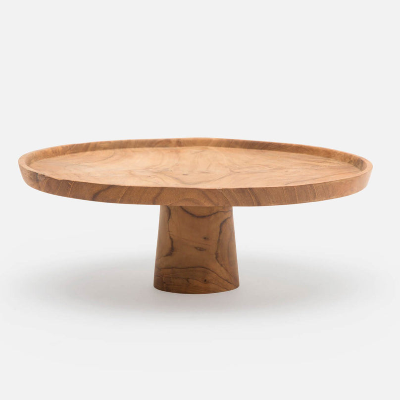 Fabre Natural Cake Stand, Pack/2
