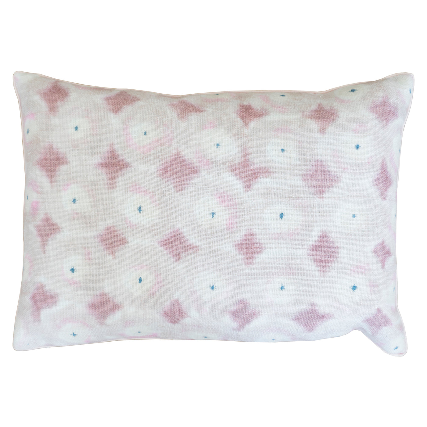 "14"" x 20"" Foulard Hand Painted Pillow - Pale Rose"