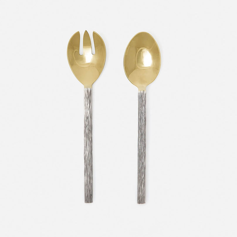 Harrison Silver/Gold Serving Set, Set/2