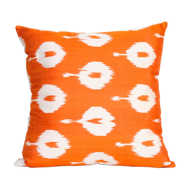 ikat rust air balloon decorative pillow