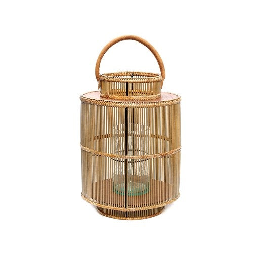 Lantern w/ Genuine Leather Handle
