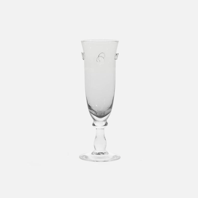 Lucia Pale Grey Champagne Flute Glass, Pack/6