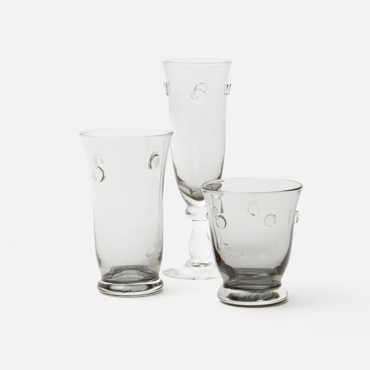 Lucia Pale Grey Tumbler Glass, Pack/6