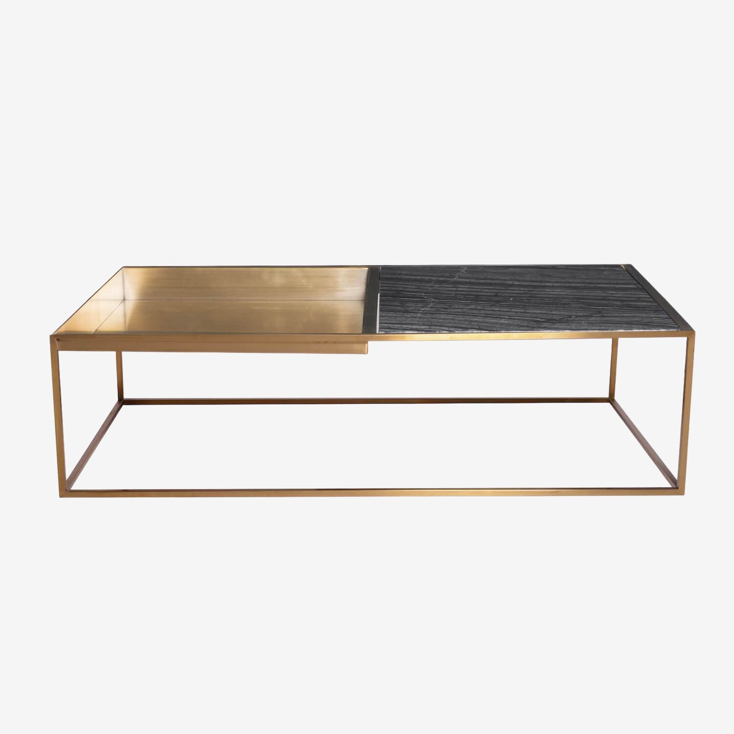Marble Cocktail Table w/ Tray
