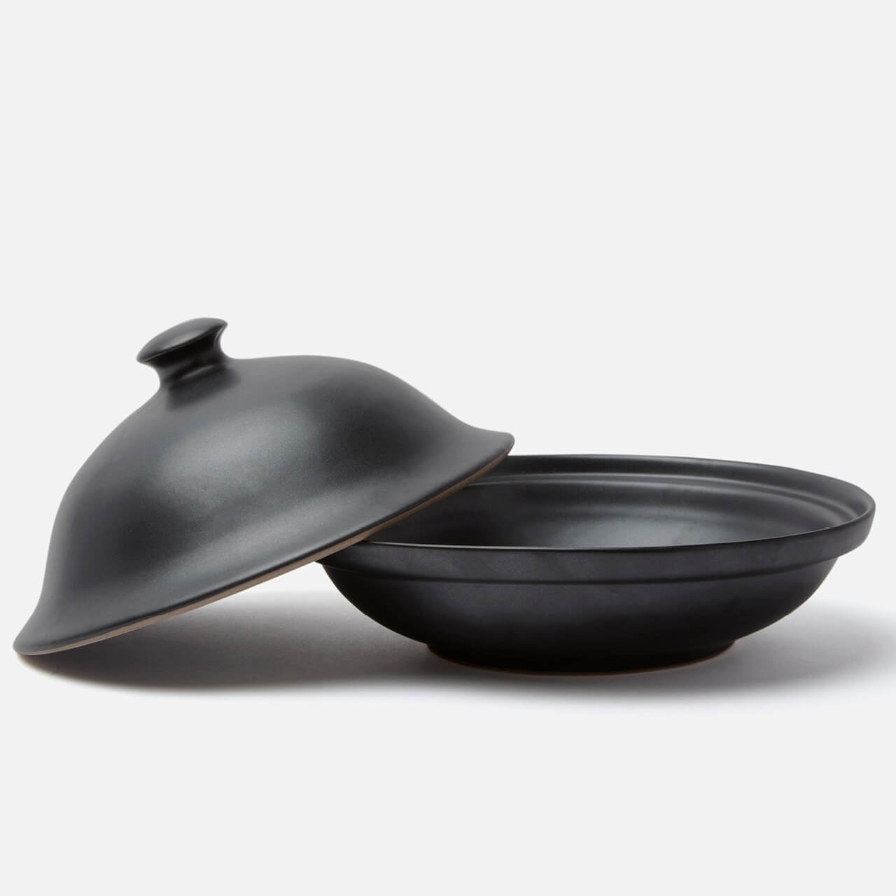 Marcus Black Glaze Cloche Serving Platter
