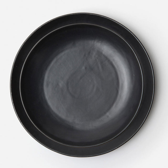 Marcus Black Glaze Round Serving Platter, Set/2