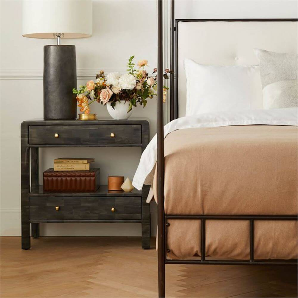 Marin Canopy Bed, Smooth Wrought Iron