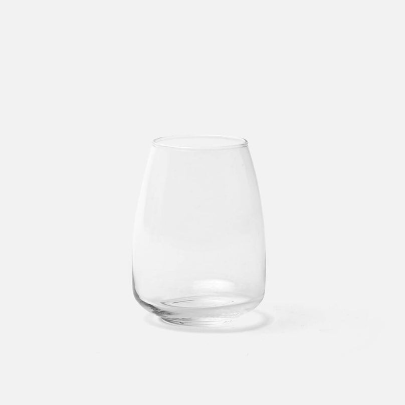 Mia Clear Tumbler Glass, Handblown, Pack/6