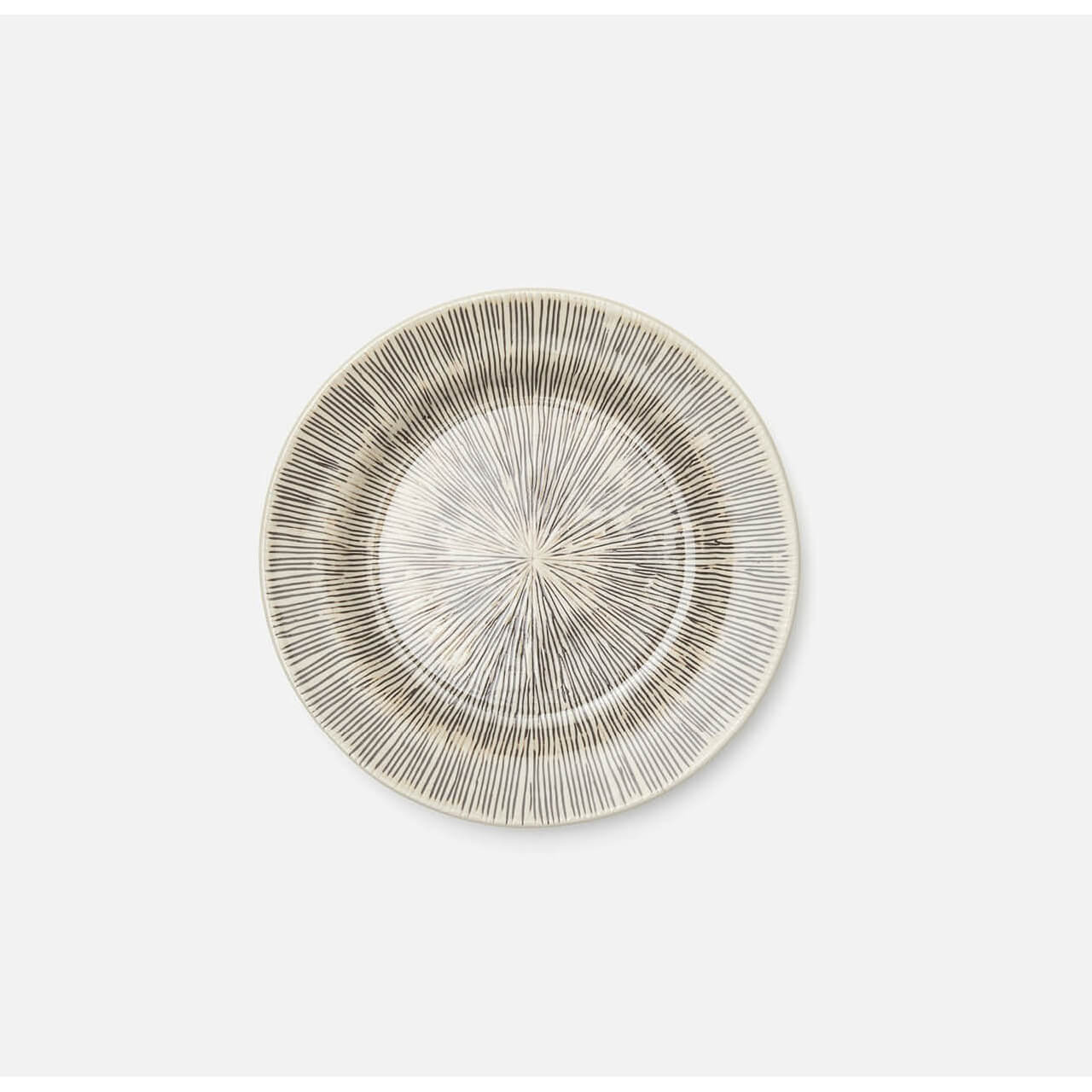 Nolan Black/Cream Salad Plate Pack/4