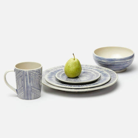 Nolan Navy Cream Salad Plate Pack/4