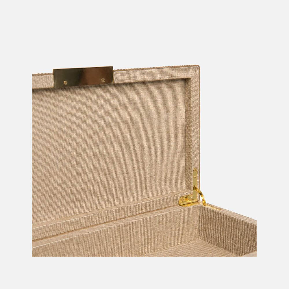 Box Ostrich-Embossed Leather Box - Set/2