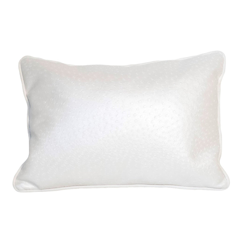 Paige Pearl Faux Ostrich Lumbar Pillow