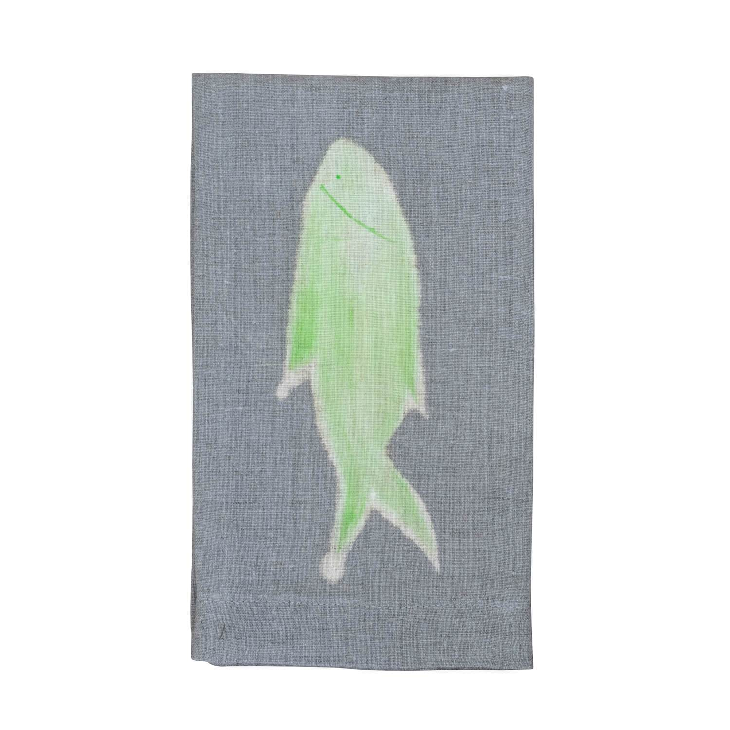Painted Fish Guest Towel