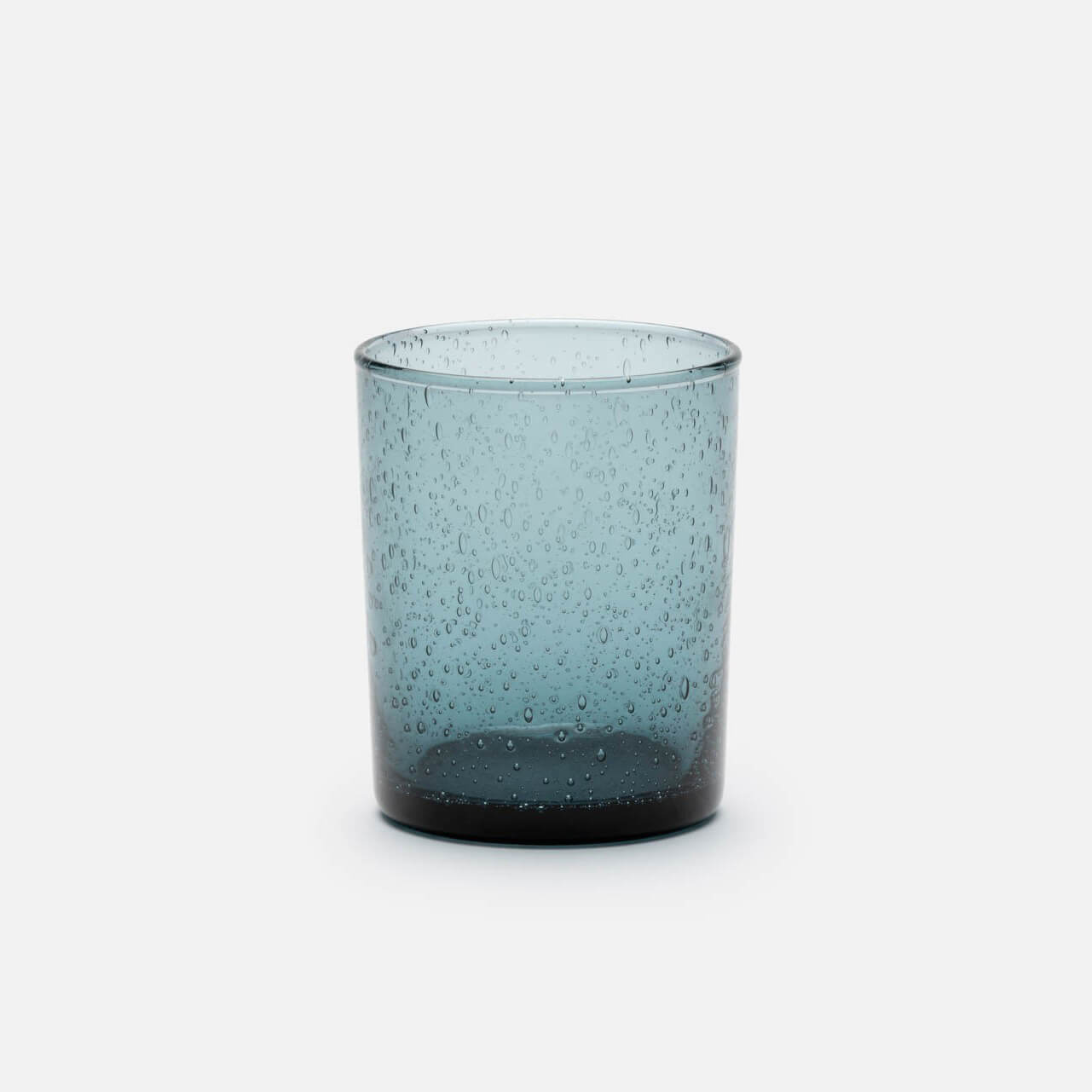 Quinn, Storm Grey Handblown Glass, Pack/6