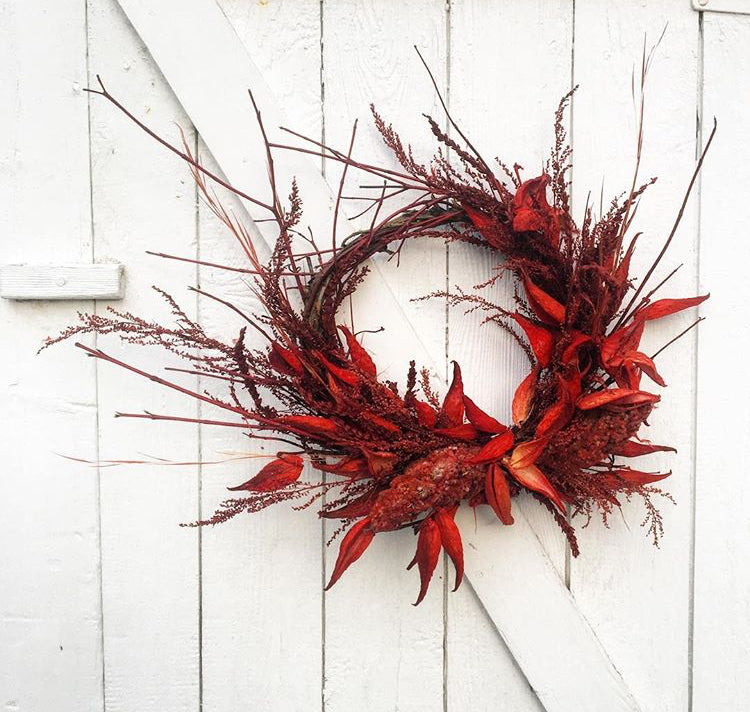 Grapevine Wreath - Red Pepper