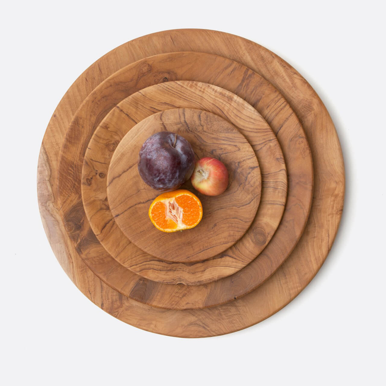 Rowan Teak Cocktail Plates Set/3