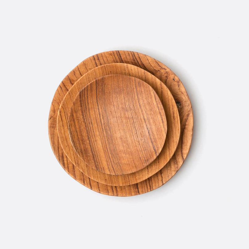 Rowan Teak Cocktail Plates Set