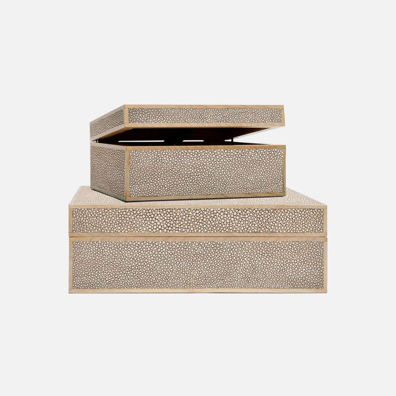 Shagreen & Wood Box Set - Set/3