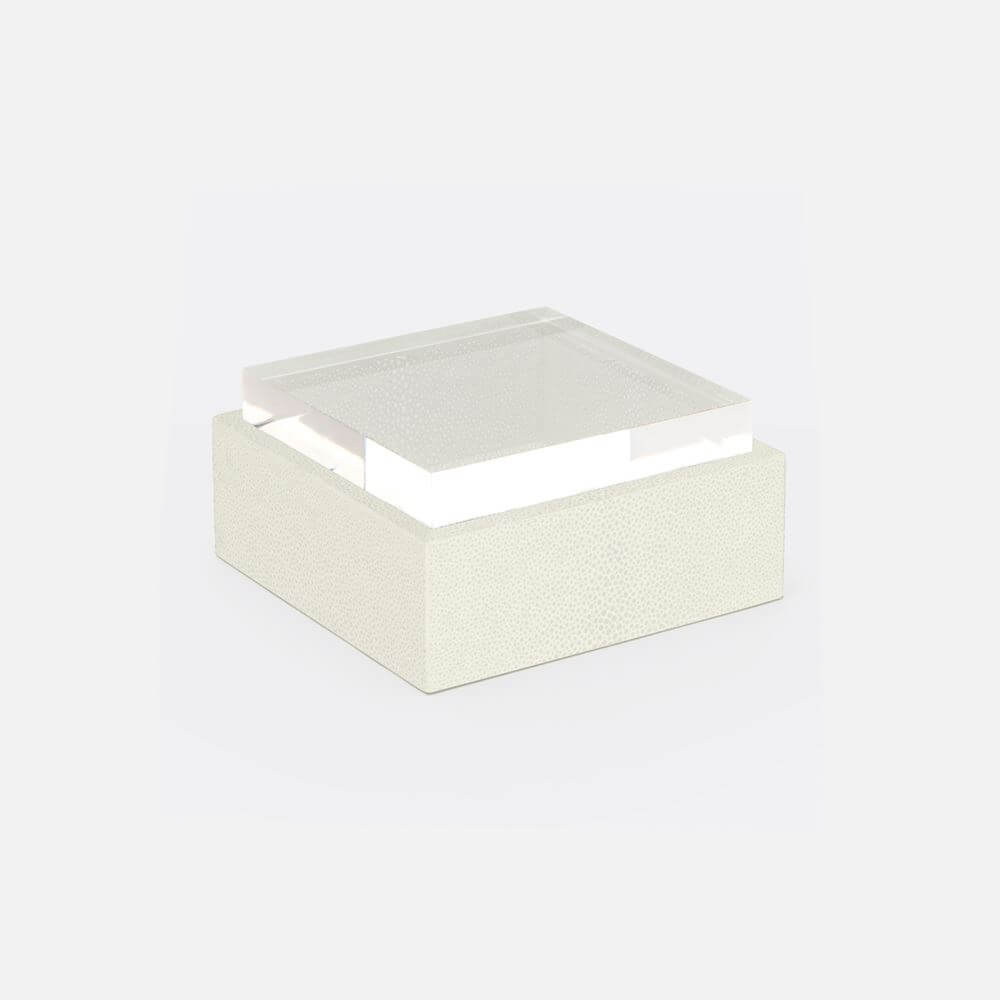 Shagreen Jewelry Box Set with Acrylic Lid - Pack/2