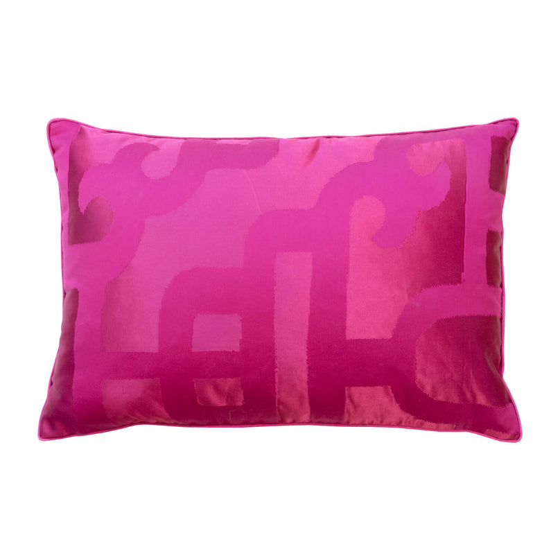 Silk Lantern Pillow, Magenta - 14x22""