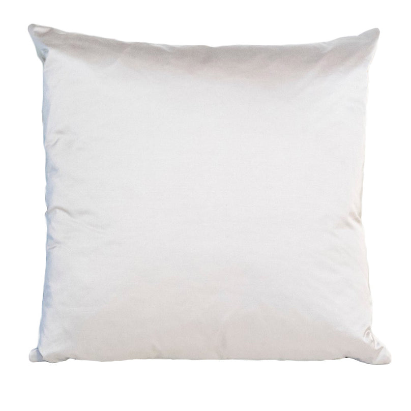 Solid Chic Silver Pillow