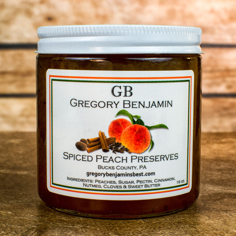 Gregory Benjamin Preserves - Spiced Peach 9 oz.